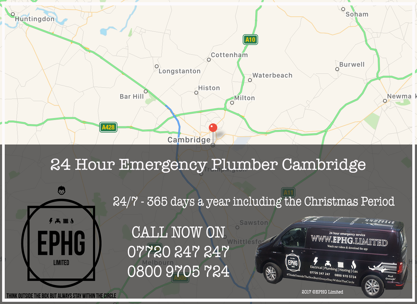 24 Hour Emergency Plumber Cambridge