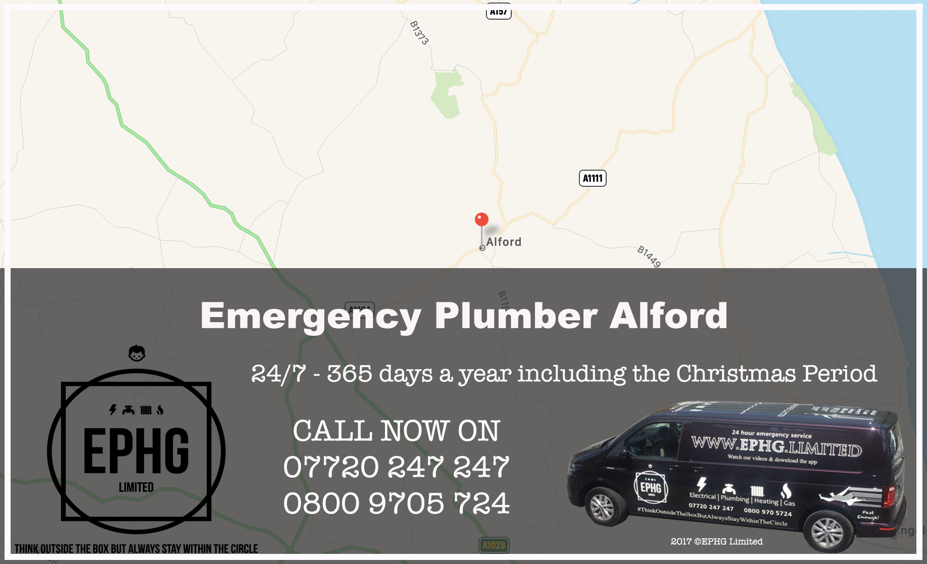 24 Hour Emergency Plumber Alford Lincolnshire