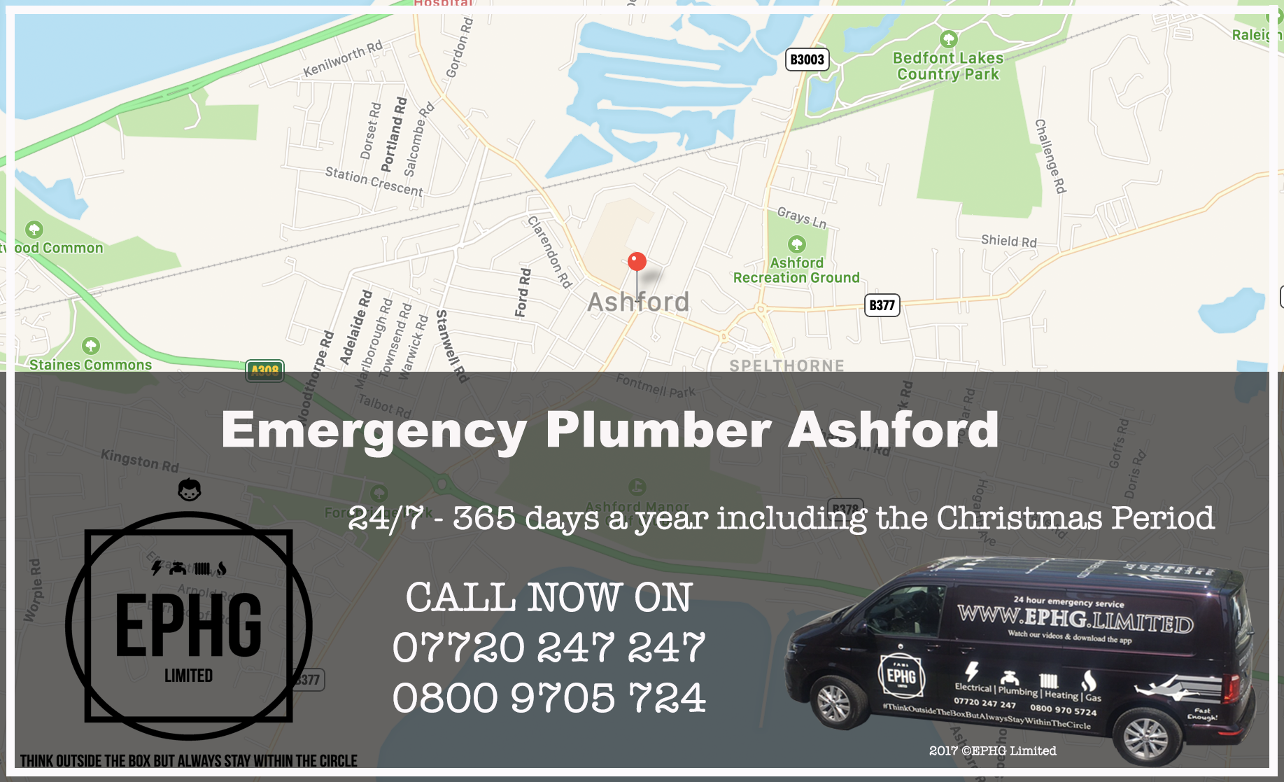 24 Hour Emergency Plumber Ashford Middlesex