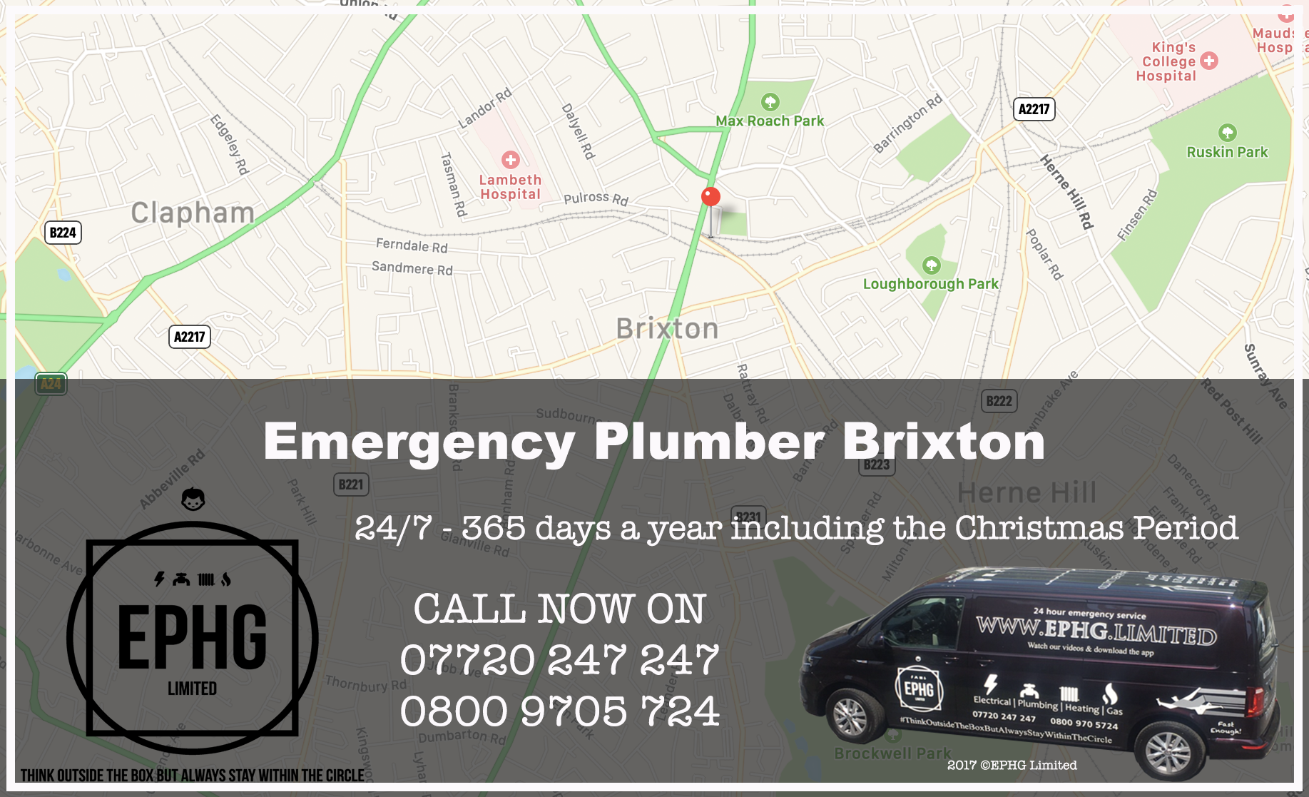 24 Hour Emergency Plumber Brixton