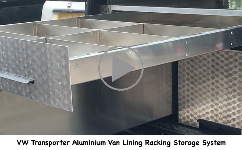 VW Transport Aluminium Lining Racking Storage System